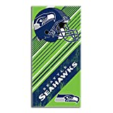 Northwest NOR-1NFL911010022RET 28 x 58 in. Seattle Seahawks NFL Fiber Reactive Beach Towel, Diagonal Serie