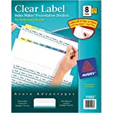 Avery Index Maker Clear Label Dividers, 8-Tab, Multi-Color Tabs, 25 Sets (11993)