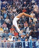OLGA KORBUT GOLD MEDAL WINNER OLYMPIC GYMNASTICS 4 X GOLD ACTION SIGNED 8x10 - Autographed Sports Photos