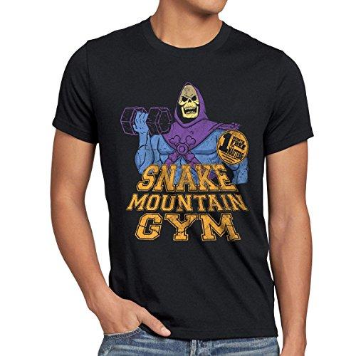 style3 Snake Mountain Gym T-Shirt da uomo, Dimensione:2XL;Colore:Nero