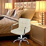 (BTM) Brand New Barcelona office Chair CREAM BREAKFAST BAR STOOL PU LEATHER BARSTOOL KITCHEN STOOLS CHAIR/STOOL WITH ARMS OFFICE/COMPUTER/SALON CHROME OFFICE PC CHAIR
