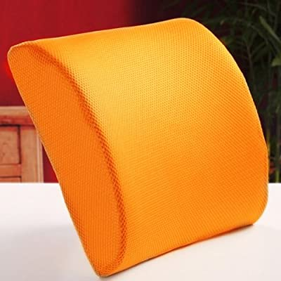 THG Orange Memory Foam Lumbar Cushion Pillow Cover Pad Molded to Improve Posture Supports Lumbar Lower ache by Lumbar Cushion