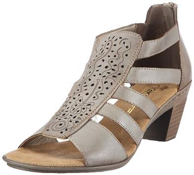Rieker 67376-62, Damen Sandalen/Fashion-Sandalen, Beige (whitekiesel 62), EU 36