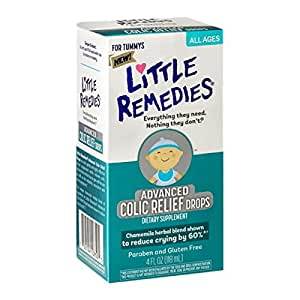 Little Remedies® Advanced Colic Relief Drops is a safe, gentle and highly effective herbal supplement which relieves colic, stomach discomfort due to gas and hiccups as well as the irritability associated with these symptoms.*.