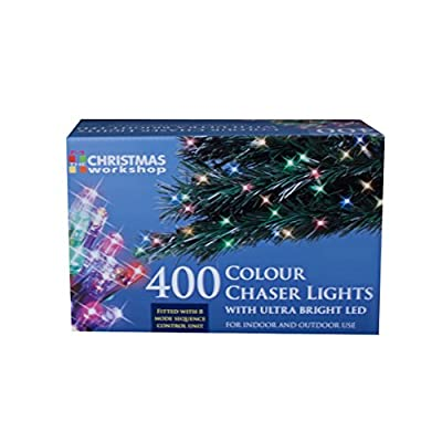 The Christmas Workshop 400 LED Chaser String Lights, Multi-Coloured