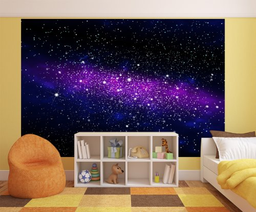galaxie fototapete weltraum wandbild sternenhimmel. Black Bedroom Furniture Sets. Home Design Ideas