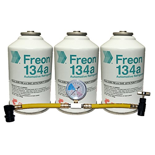 Multi Car AC Kit 3 Cans DuPont Refrigerant R-134a Can Tap with Gauge (Ac Refrigerant Kit compare prices)