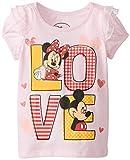 Disney Little Girls' Mickey and Minne Mouse Love Girls T-Shirt