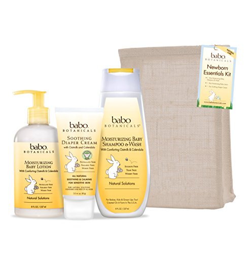 Babo Botanicals Newborn Essential 3 Piece Set - Best Baby Gift, Best For Baby Registry, Best Baby Shower Gift