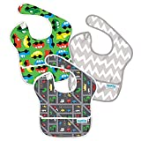 Bumkins Waterproof Super Bib, Boy, 3 Pack