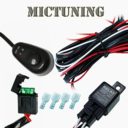 Led Light Bar Wiring Harness - 40 Amp Relay 30A Fuse On/Off Switch - 4X4 Offroad Jeep Suv Atv