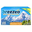 $9.30, Breezeo Fabric Softener Dryer Sheets, Mountain Fresh, 200 Count
