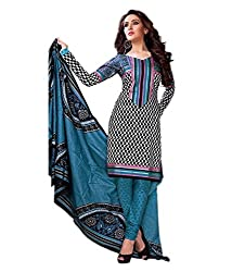 Mayur Women's Cotton Unstitched Dress Material (162034232620_Blue_Medium)