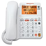 AT&T CL4940 Corded Phone with Answering System, Backlit...