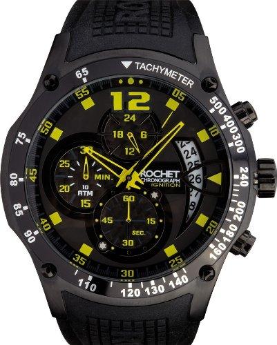 [ロシェ]ROCHET 腕時計 MOTOR SPORT IGNITION CARBON クロノグラフ ウォッチ デイト ブラック W105118 メンズ 【正規輸入品】