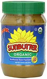 SunButter Organic Sunflower Seed Spread, 16-Ounce Plastic Jars (Pack of 3)