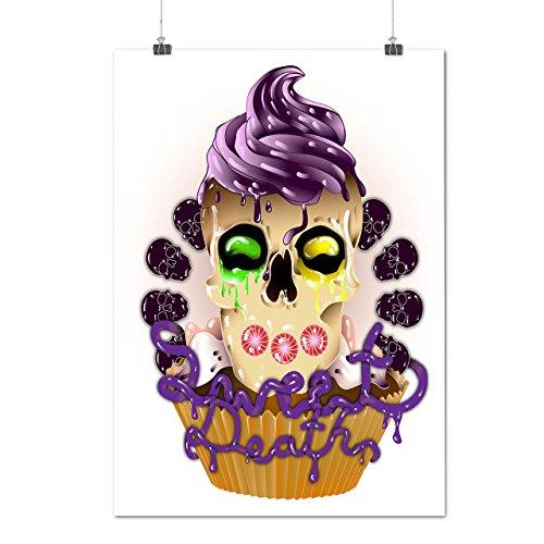 Sucré La mort Cupcake Bonbon Matte/Glacé Affiche A1 (84cm x 60cm) | Wellcoda