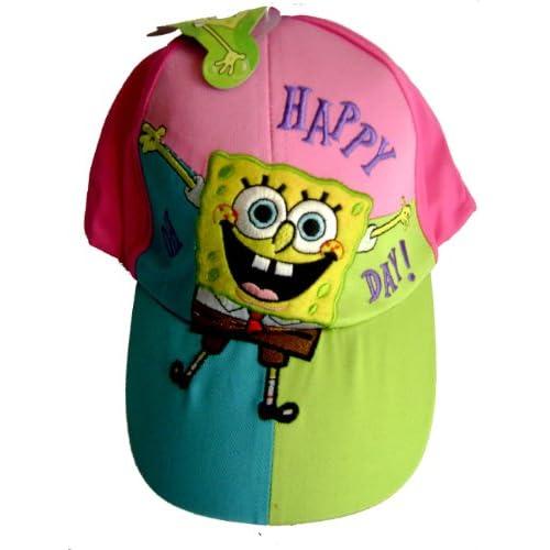 Spongebob Squarepants Baseball Cap Hat   Colorful Cute Cap   Happy Day