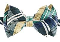 Retreez Elegant Tartan Plaid Check Woven Microfiber Pre-tied Boy's Bow Tie