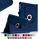 Fintie Apple iPad Air Case - 360 Degree Rotating Stand Case Cover with Auto Sleep / Wake Feature for iPad Air / iPad 5 (5th Generation) - Navy