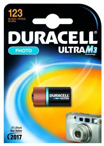 "DURACELL Pile photo ""Ultra M3"" Lithium DL 123 A Blister de 1"