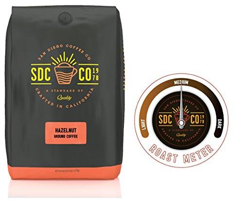 San Diego Coffee Hazelnut, Ground Coffee (5 LB)