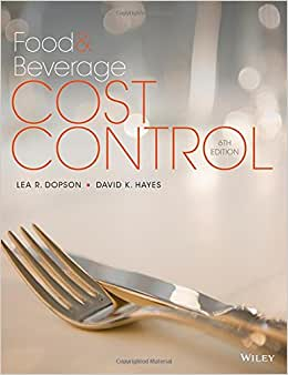 Food And Beverage Cost Control