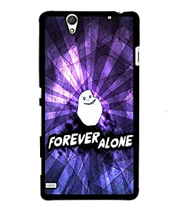 Fuson 2D Printed Quote Designer back case cover for Sony Xperia C4 - D4514