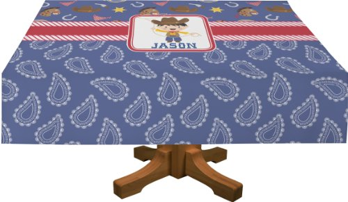 """Blue Western Tablecloths (Personalized) - (70"""" X 90"""") front-817822"""