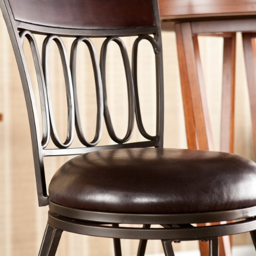 SEI Summerville Adjustable Bar Stool, Brown
