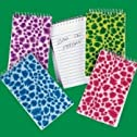 Dozen Assorted Bright Plush Animal Print Spiral Bound Notebooks [Toy]