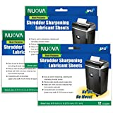Nuova Shredder Sharpening & Lubricant Sheets - 36 counts (12 X 3-Pack)