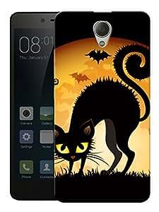 "Humor Gang Black Cat Eyes Printed Designer Mobile Back Cover For ""Xiaomi Redmi Note 2"" (3D, Matte, Premium Quality Snap On Case)"