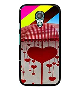 PrintDhaba Hearts D-4663 Back Case Cover for MEIZU M1 NOTE (Multi-Coloured)