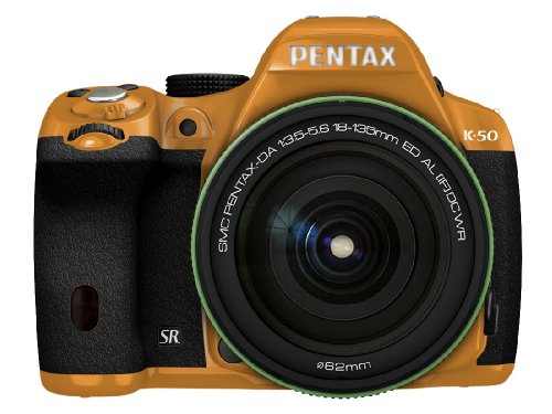 RICOH デジタル一眼レフ PENTAX K-50 DA18-135mmWRレンズキット オレンジ/ブラック 022 K-50 18-135WR KIT ORANGE/BLACK 022 11410