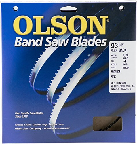 Olson Saw FB19293DB 3/8 by 0.025 by 93-1/2-Inch HEFB Band 4 TPI Skip Saw Blade (Tamaño: 1)