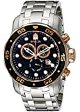 Invicta Men's 80036 Pro Diver Chronograph Black Dial Stainless Steel Watch