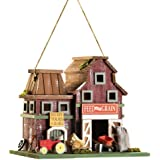 Gifts & Decor Country Farmstead Rustic Barnyard Wooden Bird House (Discontinued by Manufacturer)