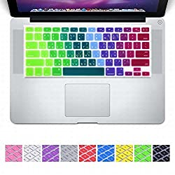 DHZ Dazzle Rainbow Taiwanese Taiwan fonts traditional Chinese character Keyboard Cover Silicone Skin for MacBook Pro 13