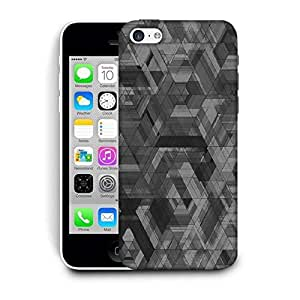 Snoogg Space Black Abstract Printed Protective Phone Back Case Cover For Apple Iphone 6 / 6S