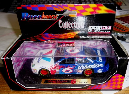 Nascar 1:43 Die-cast Model Mark Martin #6 Valvoline Synpower Ford Taurus with Collectible Display Case