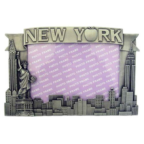 New York Pewter Picture Frame - Apple, New York Picture Frames, Fits 4 X 5 1/2 picture (New York Picture Frame compare prices)