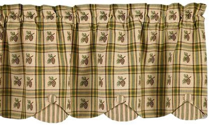 Pine Cone Lodge Kitchen Window Curtain