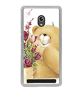 Cute Bear 2D Hard Polycarbonate Designer Back Case Cover for Asus Zenfone 6 A600CG