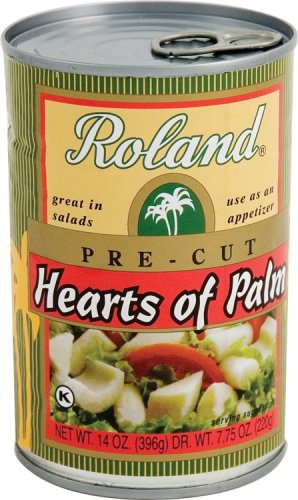 Roland Pre-Cut Hearts Of Palm, 14-Ounce can (Pack of 6)