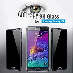 Ascari For Samsung Galaxy J7 J700 Anti-Spy Privacy Tempered Glass Screen Protector 9H Protective Film Screen Guard