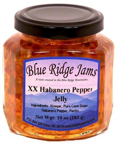 Blue Ridge Jams: XX Habanero Pepper Jelly, Set of 3 (10 oz Jars)