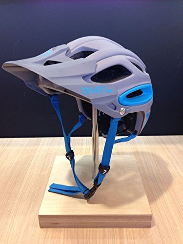 7iDP, Casco per mountain bike, modello Enduro Primer, Grigio (grau - Gris/Bleu Fluo), M/L (55-59 cm)