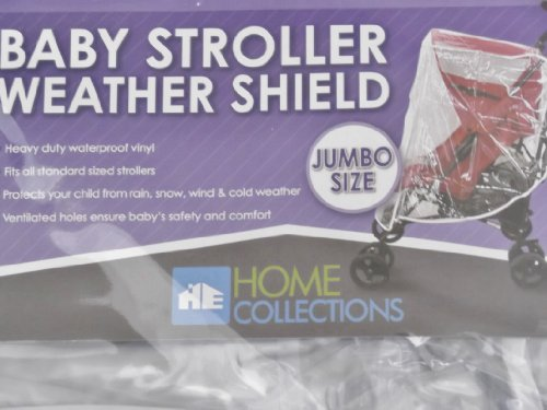 Baby Stroller WEATHER SHIELD Canopy for Cold Weather Snow Rain Wind Jumbo Clear - 1