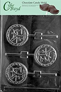 Cybrtrayd S072 Female Gymnast Lolly Chocolate Candy Mold with Exclusive Cybrtrayd Copyrighted Chocolate Molding Instructions
